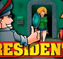 Обложка игры Resident с парнем в форме и девушкой для игры в казино Play Fortuna
